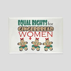 Gingerbread Women Rectangle Magnet