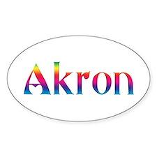 Akron Oval Sticker