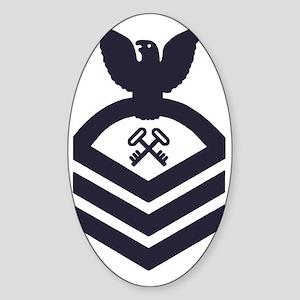 USCG-Rank-SKC-Blue-Crow- Sticker (Oval)