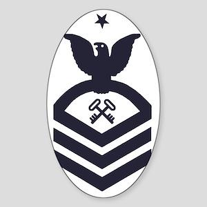 USCG-Rank-SKCS-Blue-Crow- Sticker (Oval)
