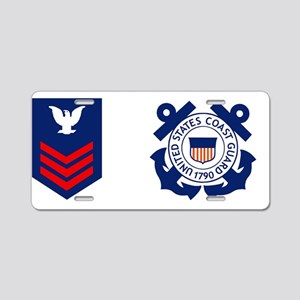 USCG-Rank-PO1-Mug-Crow Aluminum License Plate