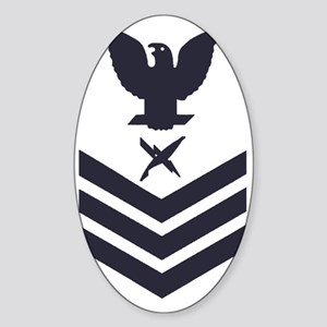 USCG-Rank-IS1-Blue-Crow- Sticker (Oval)