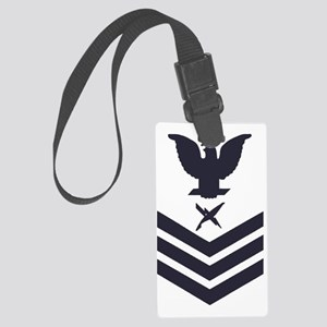 USCG-Rank-IS1-Blue-Crow- Large Luggage Tag