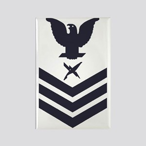 USCG-Rank-IS1-Blue-Crow- Rectangle Magnet