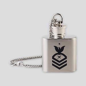 USCG-Rank-ISCS-Blue-Crow- Flask Necklace