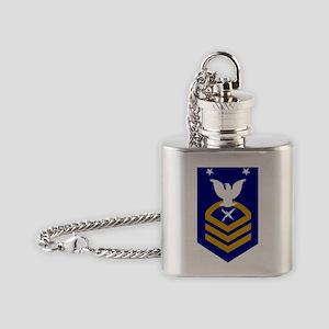 USCG-Rank-ISCM Flask Necklace