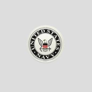Navy-Logo-Black-White-Red Mini Button