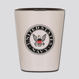 Navy-Logo-Black-White-Red Shot Glass