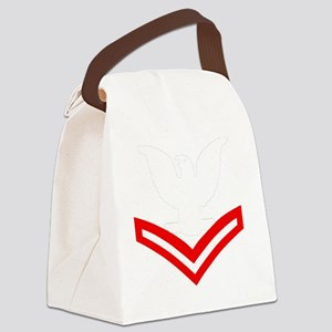 Navy-Rank-PO2-Embroidered- Canvas Lunch Bag