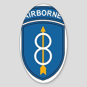 Army-8th-Infantry-Div-Airborne Sticker (Oval)