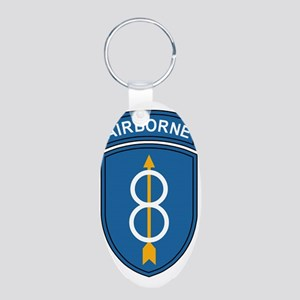 Army-8th-Infantry-Div-Airbo Aluminum Oval Keychain