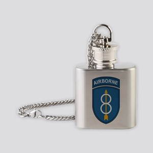 Army-8th-Infantry-Div-Airborne Flask Necklace