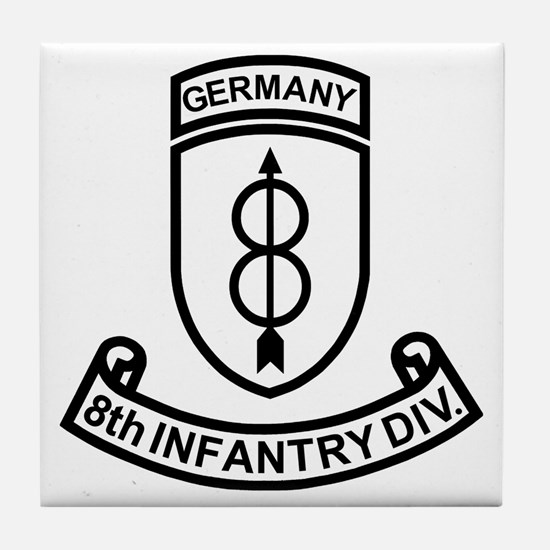 Army-8th-Infantry-Div-Germany-Scroll- Tile Coaster