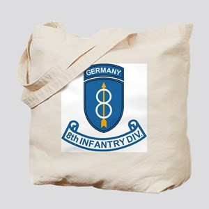 Army-8th-Infantry-Div-Germany-Scroll Tote Bag