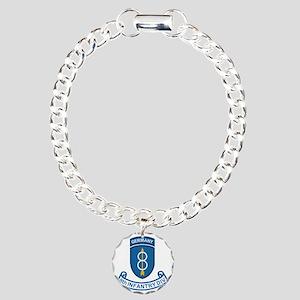 Army-8th-Infantry-Div-Ge Charm Bracelet, One Charm