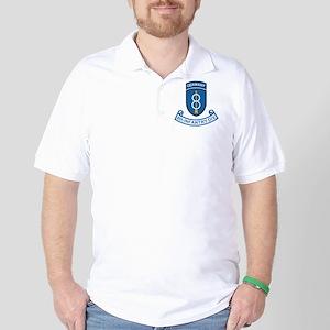 Army-8th-Infantry-Div-Germany-Scroll Golf Shirt
