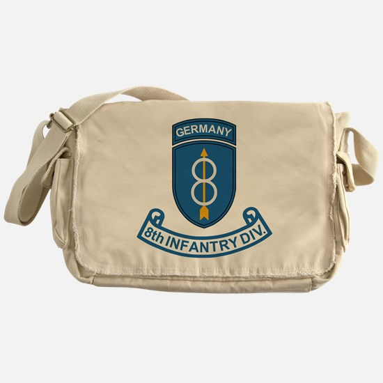 Army-8th-Infantry-Div-Germany-Scroll Messenger Bag