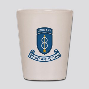 Army-8th-Infantry-Div-Germany-Scroll Shot Glass