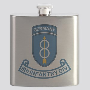Army-8th-Infantry-Div-Germany-Scroll Flask