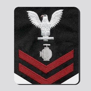 Navy-Rank-UT2-Embroidered-Red Mousepad