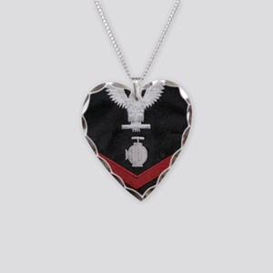 Navy-Rank-UT2-Embroidered-Red Necklace Heart Charm