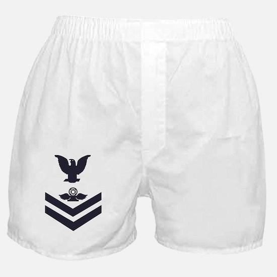 Navy-Rank-AC2-Whites Boxer Shorts