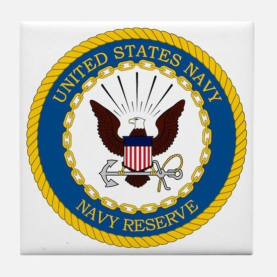 USNR-Navy-Reserve-Emblem Tile Coaster