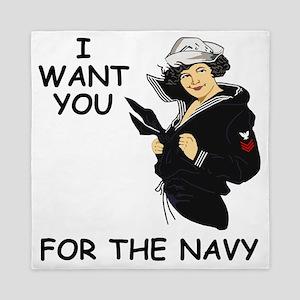 Navy-Humor-I-Want-You-Girl-PO1 Queen Duvet