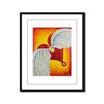 Love is taking flight Framed Panel Print