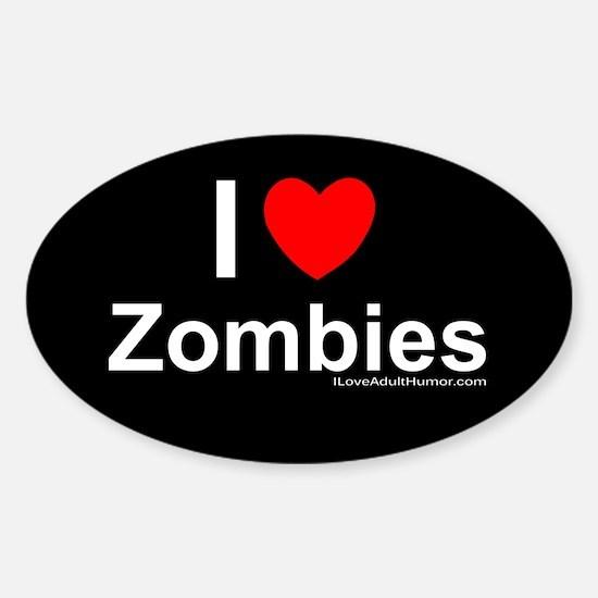 Zombies Sticker (Oval)