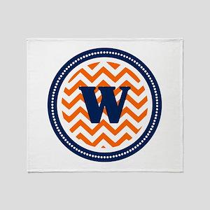 Orange & Navy Throw Blanket