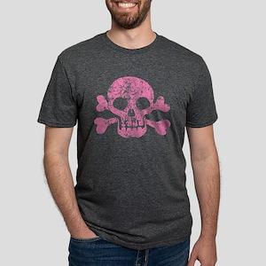skull-worn_pk Mens Tri-blend T-Shirt