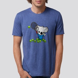 Tennis Koala Bear Mens Tri-blend T-Shirt