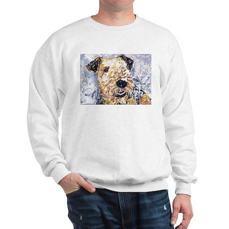 Airedale terrier first snow Sweatshirt