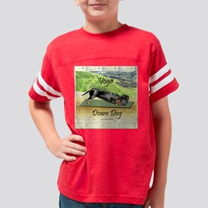 yoga dachshund dogs Youth Football Shirt