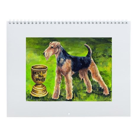 Airedale terrier Wall Calendar with 12 images