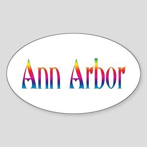 Ann Arbor Oval Sticker