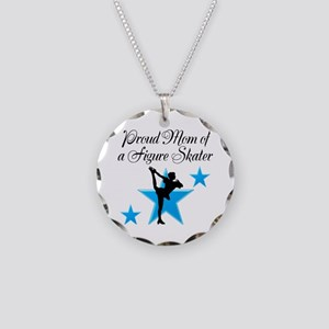 #1 SKATER MOM Necklace Circle Charm