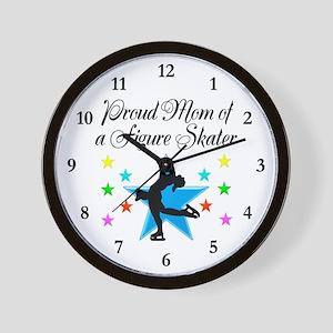 TOP SKATING MOM Wall Clock