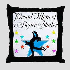 TOP SKATING MOM Throw Pillow
