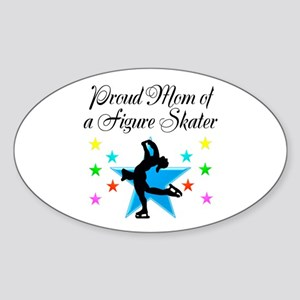 TOP SKATING MOM Sticker (Oval)