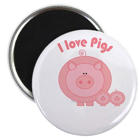 "I Love Pigs 2.25"" Magnet (10 pack)"