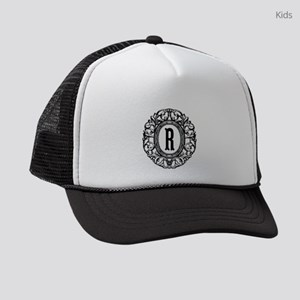 MONOGRAM Vintage Gothic Oval Kids Trucker hat