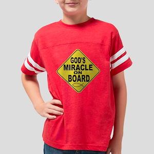 GODSMIRACLEONBOARD Youth Football Shirt