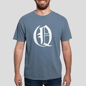 Gothic Initial Q Mens Comfort Colors Shirt