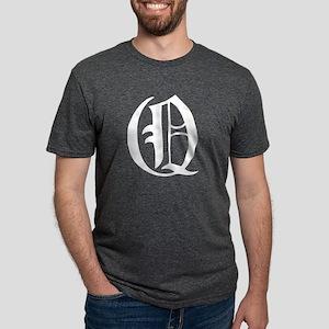 Gothic Initial Q Mens Tri-blend T-Shirt