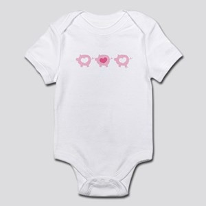 Pigs and Hearts Infant Bodysuit