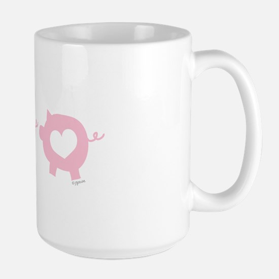 Pigs and Hearts Large Mug