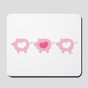 Pigs and Hearts Mousepad