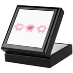 Pigs and Hearts Keepsake Box